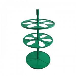 Штатив ПЭ-2920 для 6-ти цилиндрических делительных воронок 100 мл