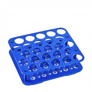 Штатив для пробирок 15 мл и 50 мл, АБС-пластик, голубой, Китай