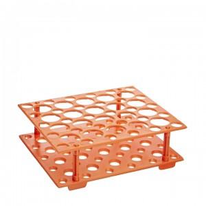 Штатив для пробирок 15 мл и 50 мл, АБС-пластик, оранжевый, Китай