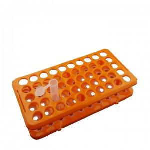 Штатив для пробирок диам. 10-18 мм, 50 гнезд, с силиконовыми фиксаторами