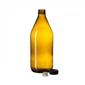 Бутылка для реактивов из темного стекла БВ-1-1000