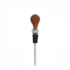 Пипетка-капельница с резиновой грушей, длина носика 90 мм