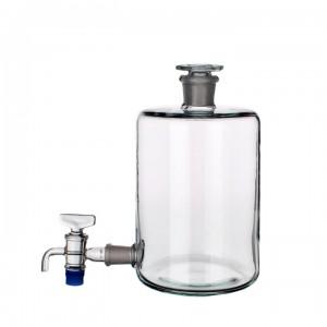 Склянка-аспиратор с краном и пришлифованной пробкой (бутыль Вульфа) 1000 мл